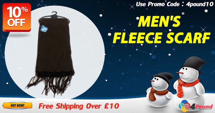Purchase Men's Fleece Scarf for £1.97 with free Shipping. Order today to get 10% OFF only for you. Apply coupon code as 4pound10 Product Description: Great quality thermal scarf 100% Polyester, Machine Washable Wash dark colours separately. http://www.4pound.co.uk/mens-fleece-scarfs