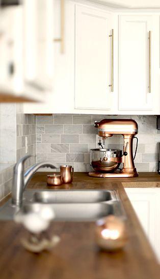 Incorporate Your Countertop Appliances Into Your Kitchen Decor via @kitchenaidusa