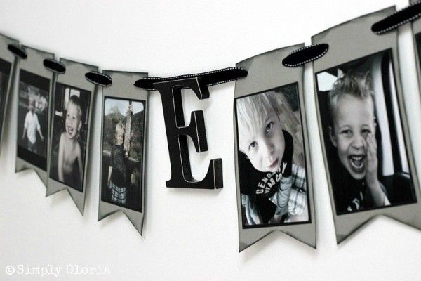 Hang one of these above the closet, so CUTE! How To Make A Portrait #Banner by SimplyGloria.com