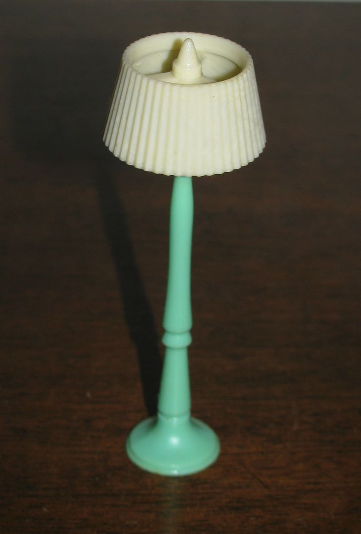 "Green Floor Lamp Vintage Renwal Dollhouse Furniture 3 4"" Fits Marx Ideal 