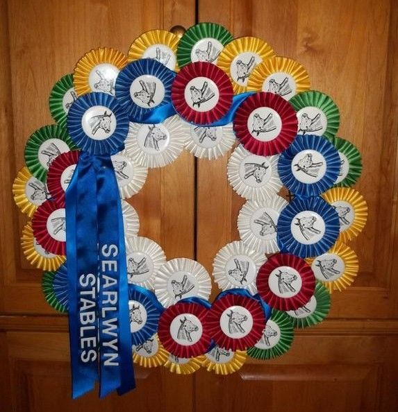 Horse Show Wreath for Horse Show Ribbon Display