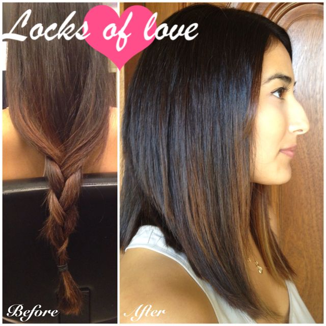 Before and after! Locks of Love donation. Gave her a cute ...