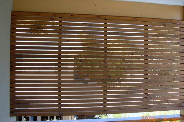 Horizontal timber slats carport pinterest screens for Carport privacy screen
