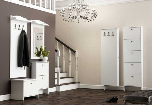 Margo - white hallway furniture set
