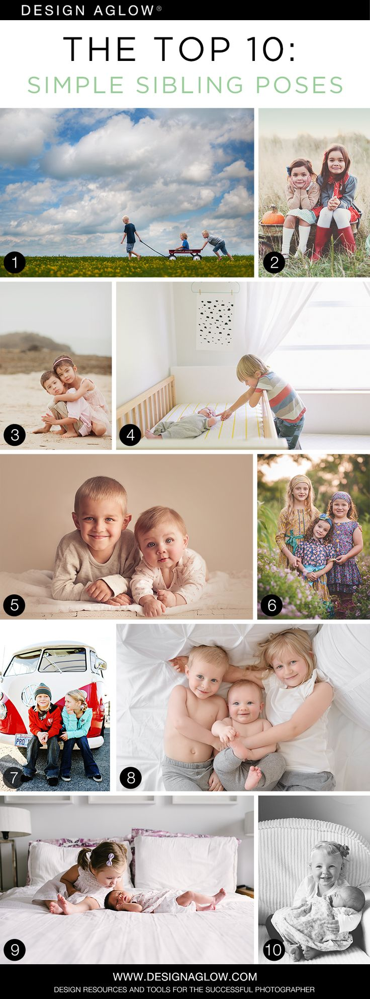 The Top 10: Simple Sibling Poses