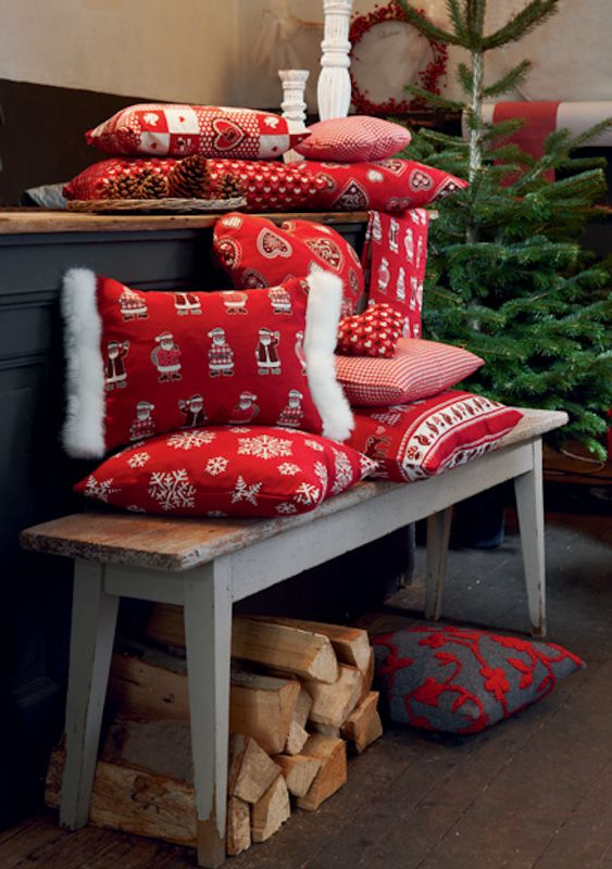 17 best x mas und winterwelt images on pinterest pillows natal and decorations. Black Bedroom Furniture Sets. Home Design Ideas