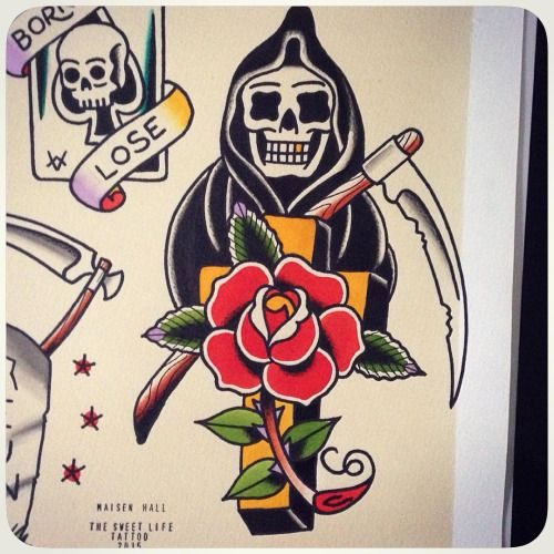 Grim Reaper Traditional Tattoo: Tattoos: A Collection Of Ideas To Try About Tattoos