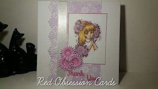 RED OBSESSION CARDS: Beautiful Pink Flowers