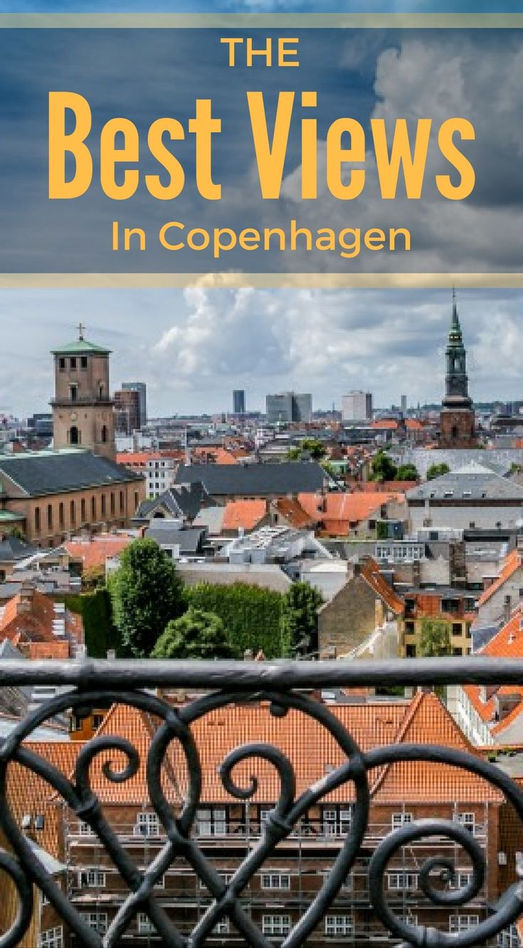 The best views in Copenhagen Denmark. If you're looking for one of the best views of the city, you will have to climb the Round Tower in Copenhagen. This round tower can be seen throughout the city but don't let the size fool you. Click to read the full Travel Blog Post by the Divergent Travelers at http://www.divergenttravelers.com/best-photo-spots-in-copenhagen/