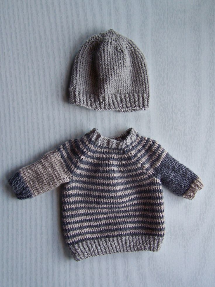 So cool for a little dude - newborn sweater & hat
