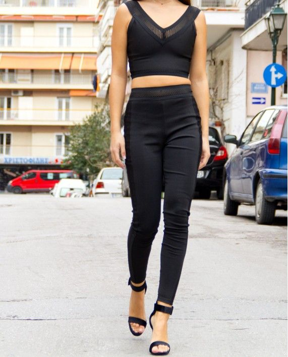 ΣΕΤ ΤΟΠ - ΚΟΛΑΝ set top & stretch trousers fashion women wear spring 2017 black