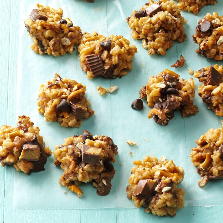 Sweet & Salty Peanut Butter Bites Recipe -My son Micah and I love peanut butter cups, so we made them into a new treat. We entered them in a creative baking contest and won first place!—Autumn Emigh, Gahanna, OH