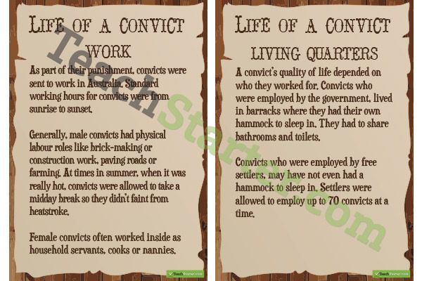 Australian Convict Life Posters | Teaching Resources - Teach Starter