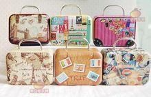 Freies Verschiffen ~ 1:6 BJD Puppenhaus Miniatur-möbel Tragen Vintage Metall Koffer Gepäck ~ Möbel Puppe Zubehör(China (Mainland))