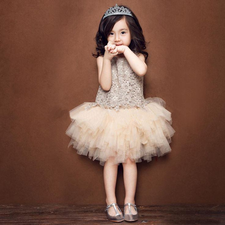 2015 Top Fashion Sale Adorable Princess Baby Girls Cotton Exquisite Dress Pretty Toddler Kids Birthday Party Prom Dresses Bd0001