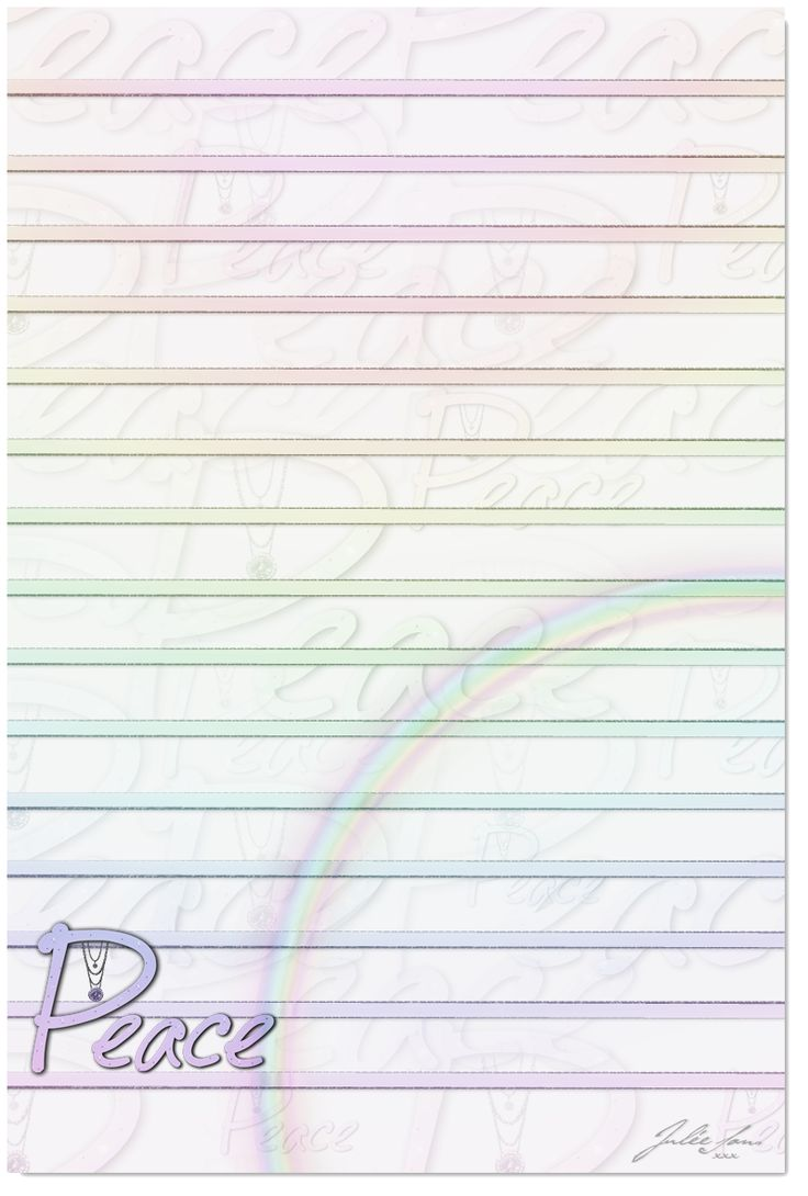 Printable Lined Peace Paper 3 By JSSanDA.deviantart.com On @deviantART  Printable Loose Leaf