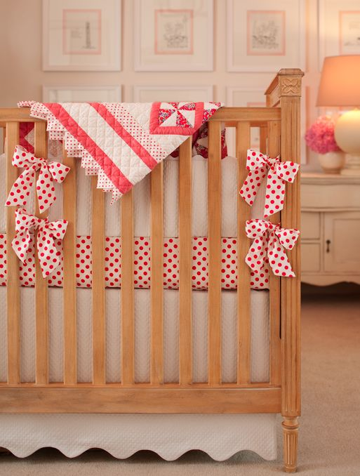 Amy Meier special touches for her daughter's nursery: Meier Design, Little Girls, Amy Meier, Baby Quilts, Baby Ideas, Cribs Skirts, Baby Rooms, Nurseries Ideas, Baby Stuff