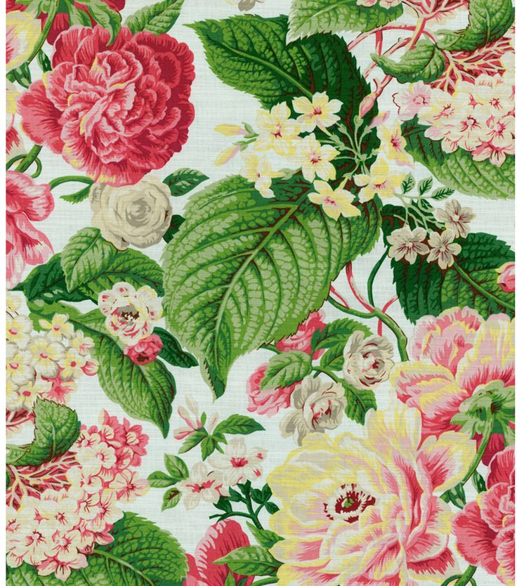Home Decor Print Fabric- Waverly Floral Flourish Spring