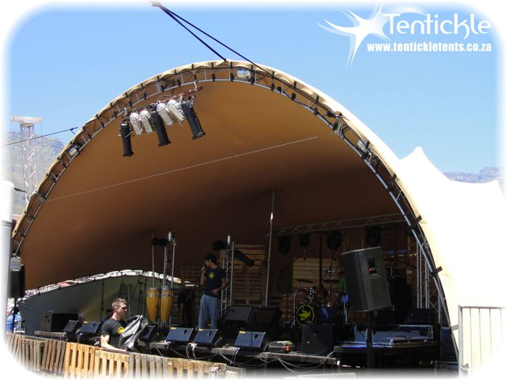 Our Arch stage going up in Cape Town