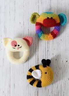 Sonajeros a crochet - Amigurumi                                                                                                                                                     Más