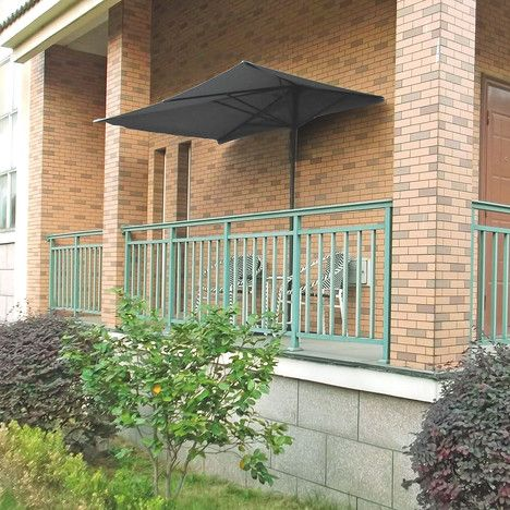 ideanature parasol de balcon rectangulaire taupe150x250cm ps. Black Bedroom Furniture Sets. Home Design Ideas