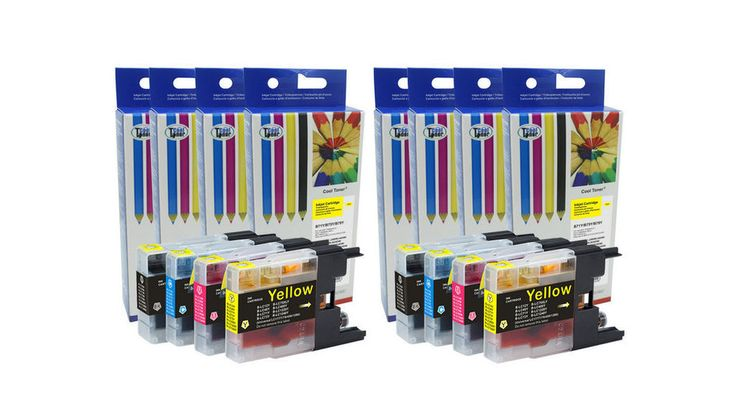 8PK LC75 LC 75 Compatible Ink Cartridges for Brother MFC-J6910dw MFC-J825DW #CoolToner