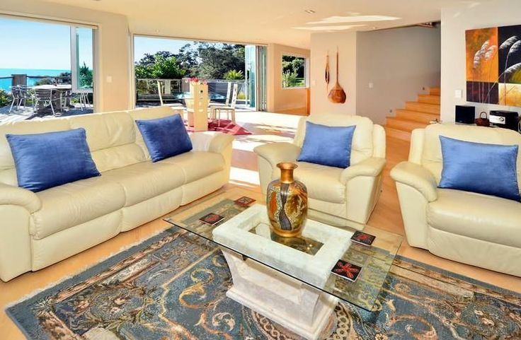 Atangi on Palm - Lounge Area #Waikehe #Accommodation #NZ