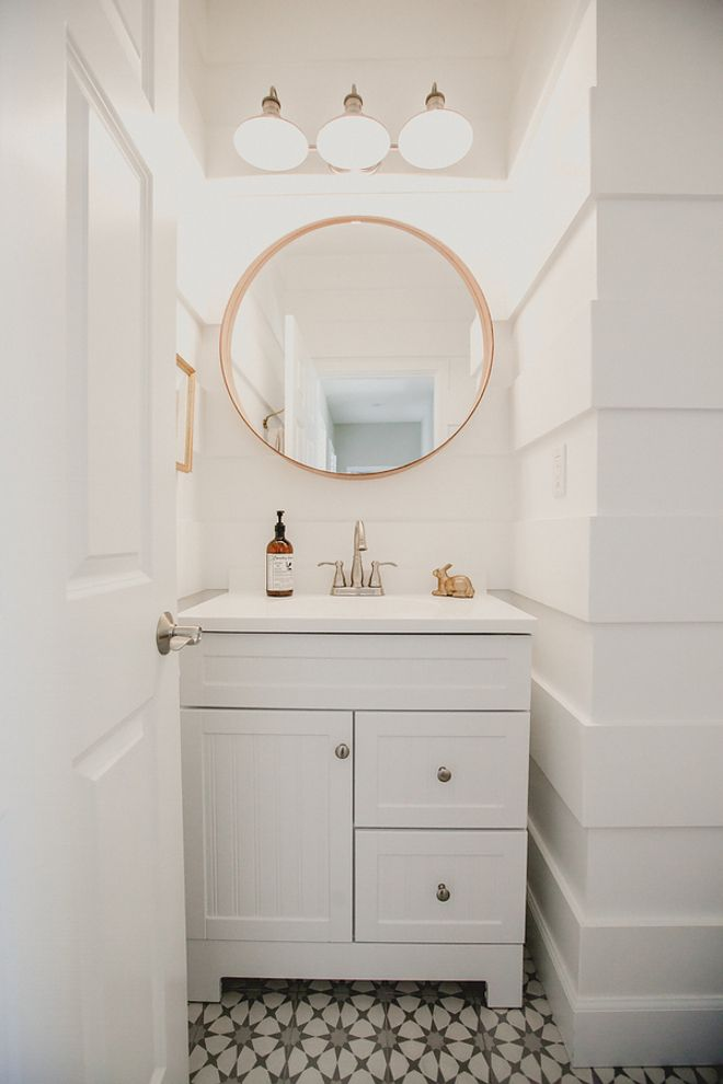 PAINT: SW Extra White Flooring: Cement Tile Atlas II from @cementtileshop