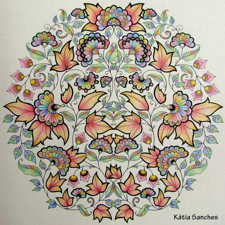 Coloringbook Secretgarden Johannabasford Livrodecolorir Jardimsecreto Coloring