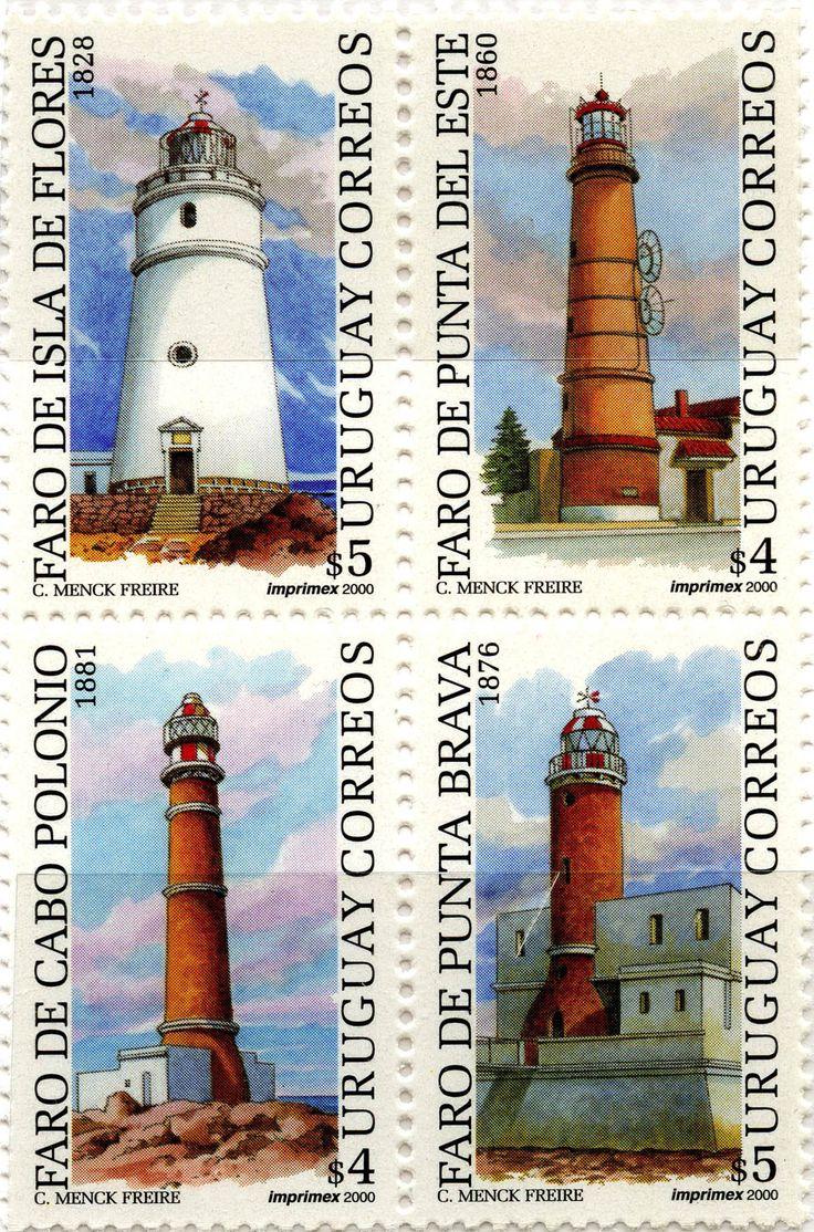 Faros de Uruguay: Faro de la Isla de Flores, Fato de Punta del Este, Faro de Cabo Polonio, Faro de Punta Brava: Uruguay. 2000