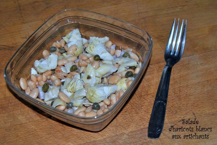 Salade d'haricots blancs aux artichauts