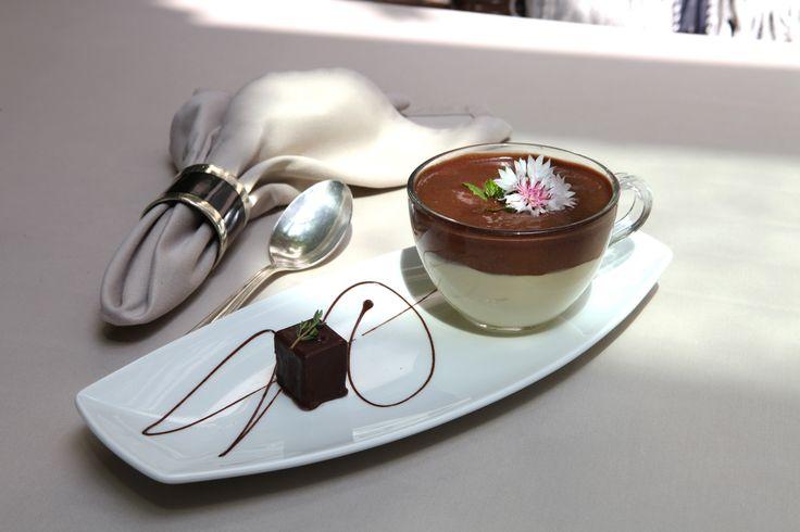 Restaurant Zum Löwen in Tisens Südtirol - Anna Matschers Dessert vom Kaffee exklusiv für Scaffe.