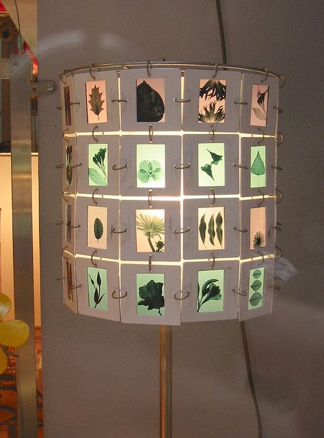 Lamp shade idea: Crafts Ideas, Photo Lampshades, Lamps Shades, Lampshades From Photo Sliding, Green Leaves, 2006 07 07 Slidelamp Jpg, Sliding Lamps, Diy, Art Rooms
