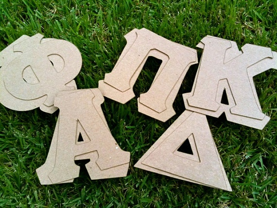 greek letter stencils perfect for letter shirts 300 per letter