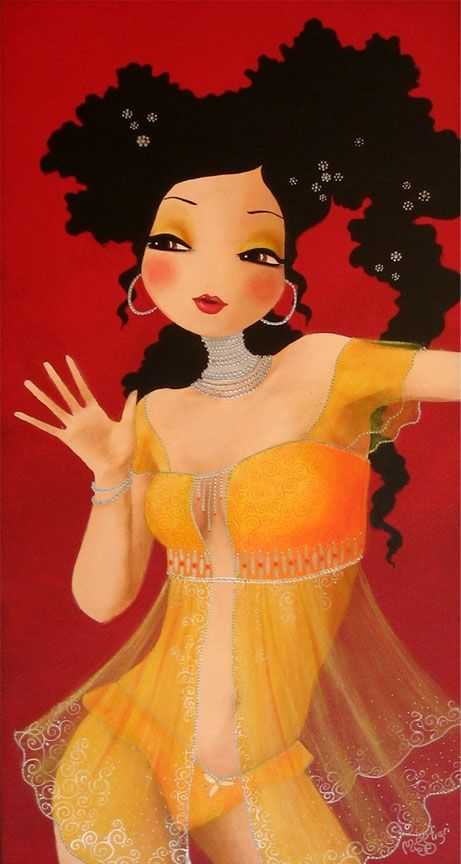 Transparence Dorée ~ Artist:  MISSTIGRI (Painter)