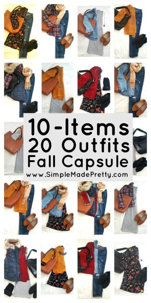 10 items 20 outfits fall capsule, Fall wardrobe capsule, Fall clothes, Fall…