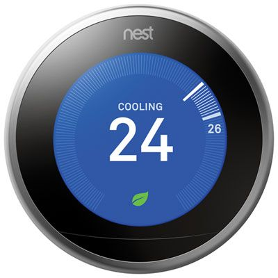 Google Nest Wi-Fi Smart Learning Thermostat 3rd Generation – Stainless Steel