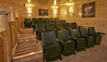 Large luxury cabin near Gatlinburg with home theater room