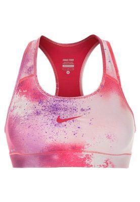 Nike Performance PRO SPLATTER - Sport-BH - geranium/bright grape - Zalando.de