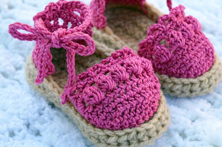 Crochet Baby Espadrilles Sandals by All4Pears on Etsy, $15.00