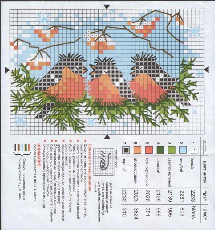 Birds in a winter bough