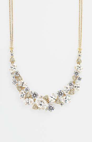 Nadri Cubic Zirconia Cluster Frontal Necklace (Nordstrom Exclusive)