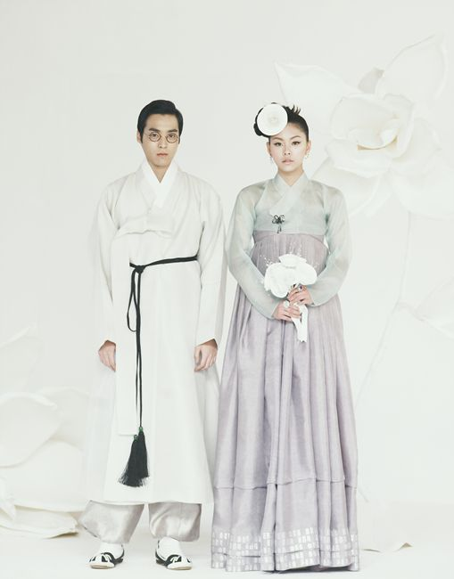 dope bride/groom modern korean wedding attire inspiration! <3 Hanbok Lynn (http://www.hanboklynn.co.kr)