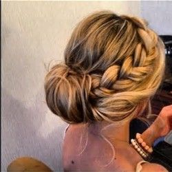 Loose Braid Hairstyles - Party Low Bun Wedding Hairstyles Wedding Bun Hairstyles…
