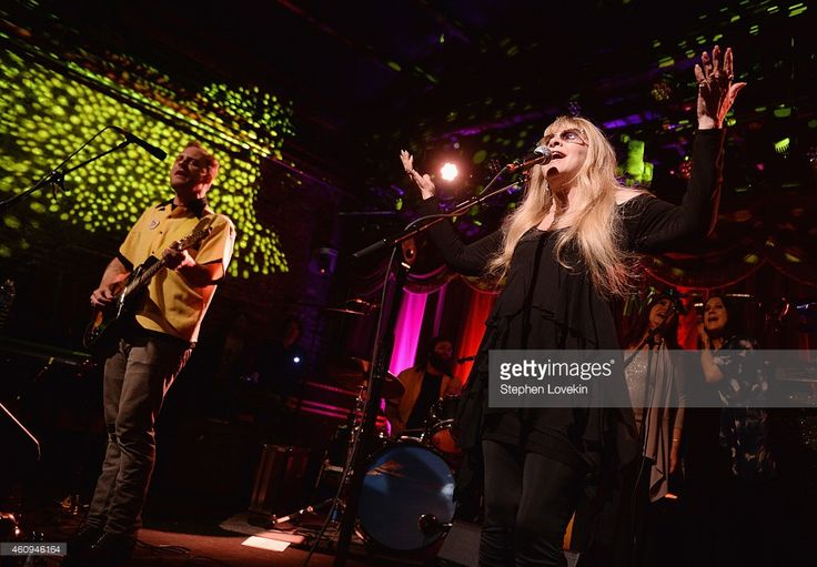 Singer/musician John McCauley of Deer Tick and singer Stevie Nicks perform as part of The Deer Tick 10 New Year's Eve 2015 at Brooklyn Bowl on December 31, 2014 in New York City.