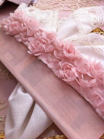 Çiçekli düğün davetiye zarfı