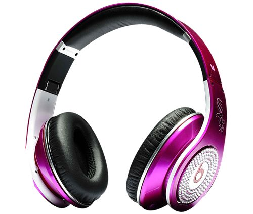 www.beatsbydrdre-drdrebeats.com  Monster Headphones Beats By Dr Dre Studio High Performance MLB Chicago White Sox Pink With Diamond.png