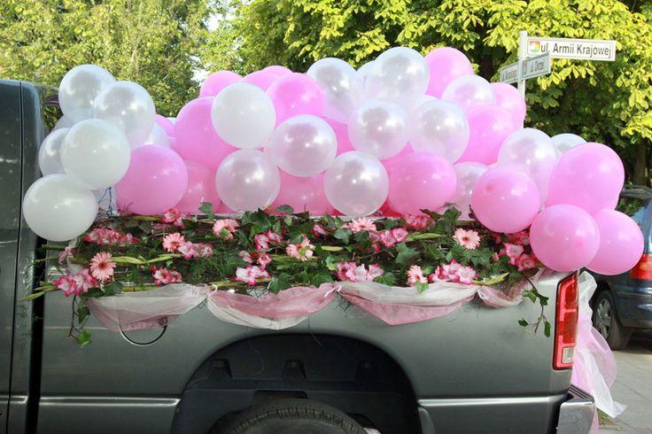 Korso na samochod - kompozycja kwiatowa na pojazd Panny Mlodej: www.kaja.lebork.pl | #wesele #dekoracjeslubne #weddignflowers #cardecorations #wedding