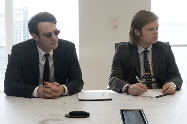 Charlie Cox and Elden Henson in Daredevil Season 1