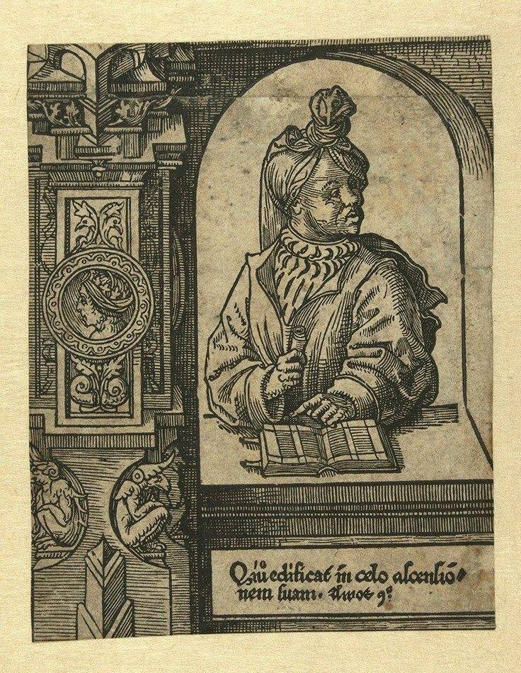 Jacob Cornelisz van Oostsanen De Profeet Amos (The Prophet Amos) Netherlands (c. 1525) Print on paper, 57mm × 122mm. Rijksmuseum.